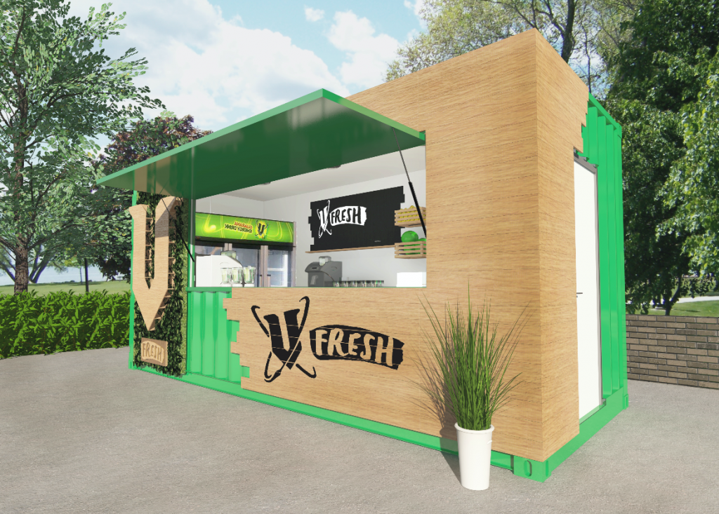 Shipping Container Trailer >> Chatter Brand Experience   Frucor   V Fresh Pop-Up Juice Bar